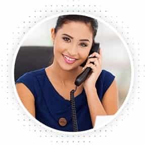 happy lady talking on phone
